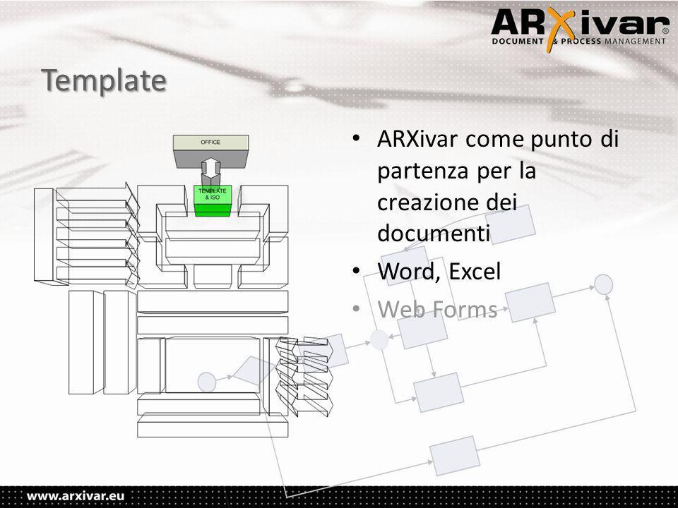 Template ARXivar come punto di partenza per la creazione dei documenti