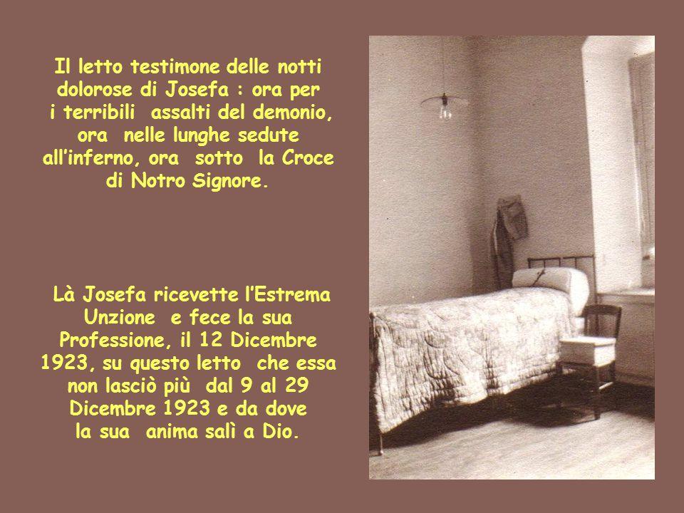 Il letto testimone delle notti dolorose di Josefa : ora per