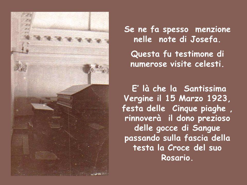Se ne fa spesso menzione nelle note di Josefa.