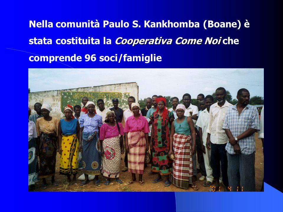 Nella comunità Paulo S. Kankhomba (Boane) è