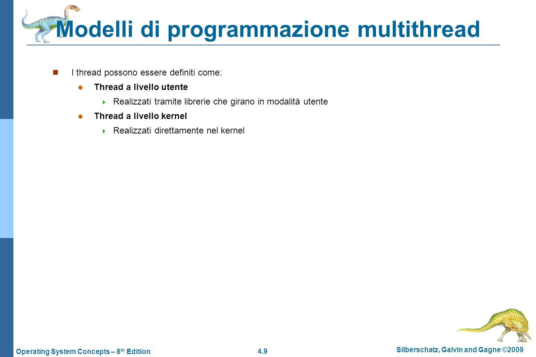 Modelli di programmazione multithread