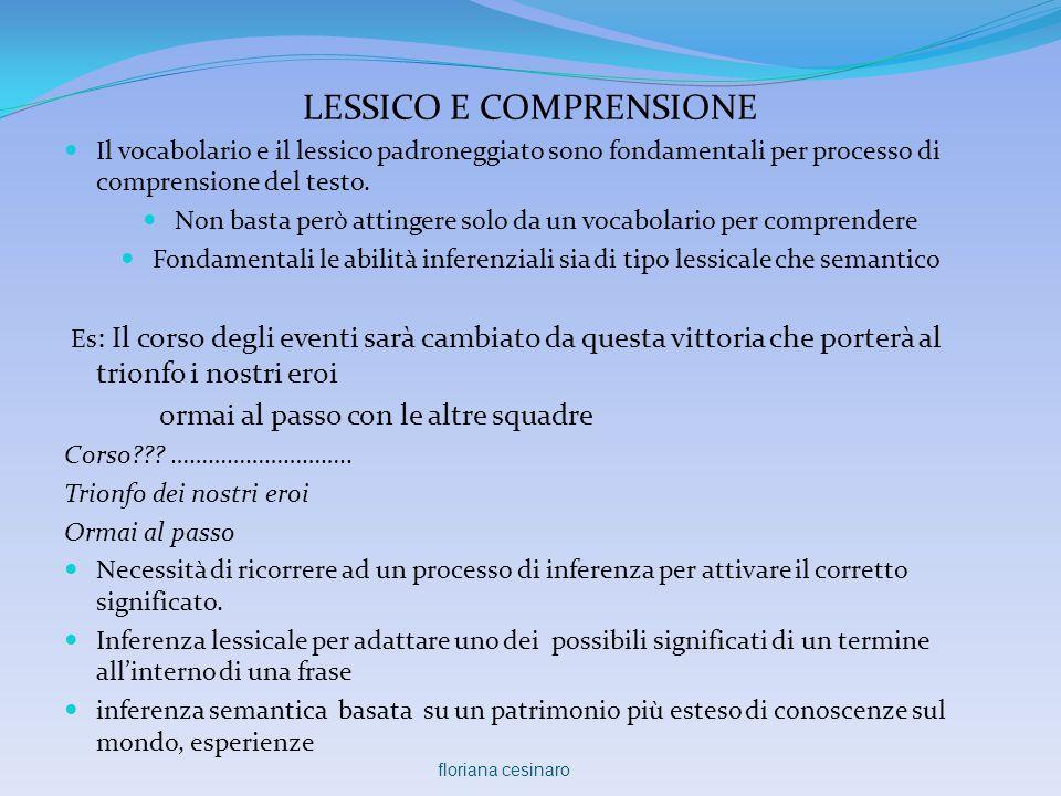 LESSICO E COMPRENSIONE