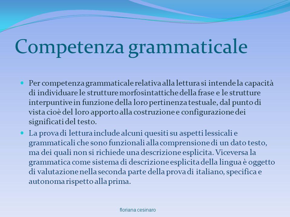 Competenza grammaticale