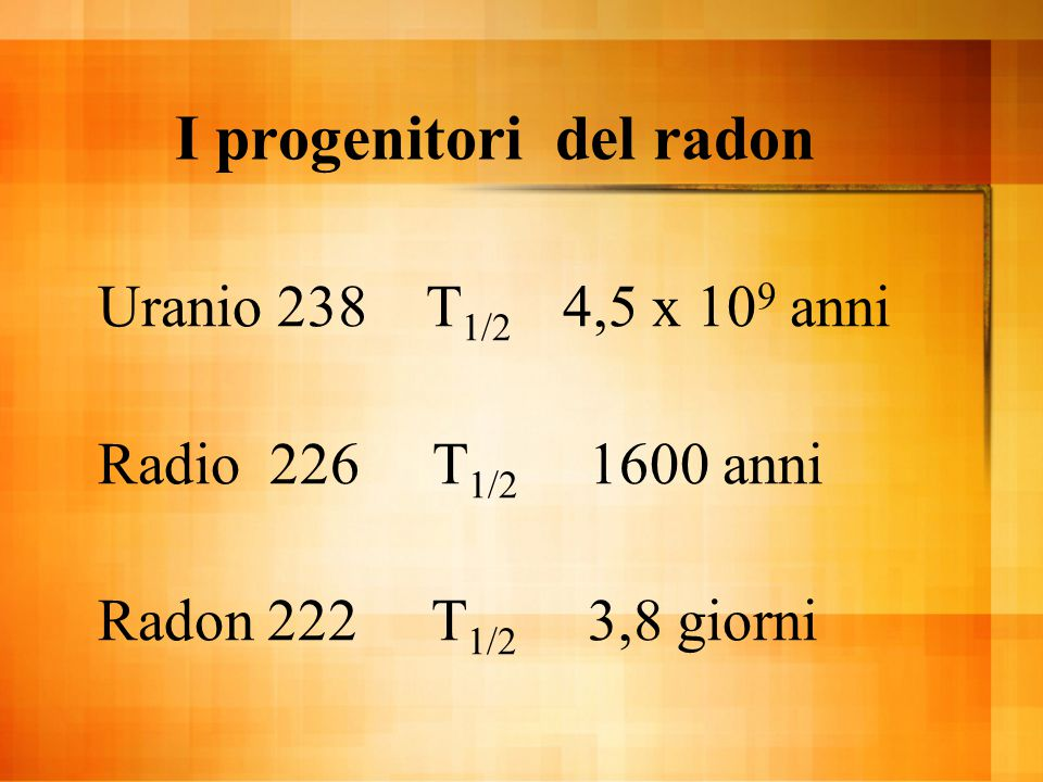 I progenitori del radon