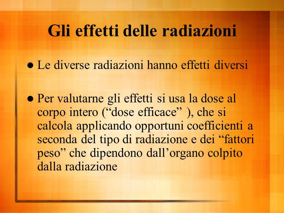 Gli effetti delle radiazioni