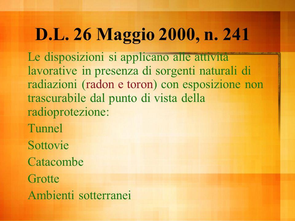 D.L. 26 Maggio 2000, n. 241