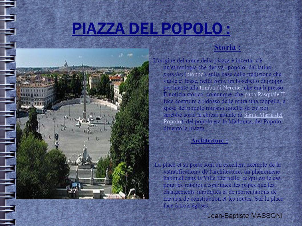 PIAZZA DEL POPOLO : Storia : Jean-Baptiste MASSONI