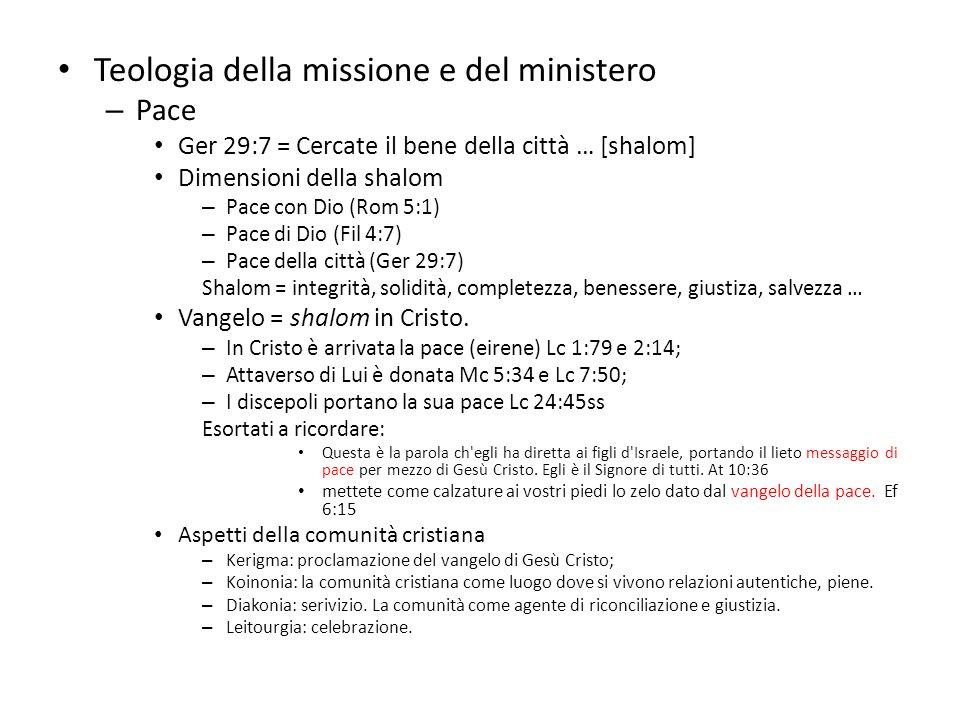 Teologia della missione e del ministero