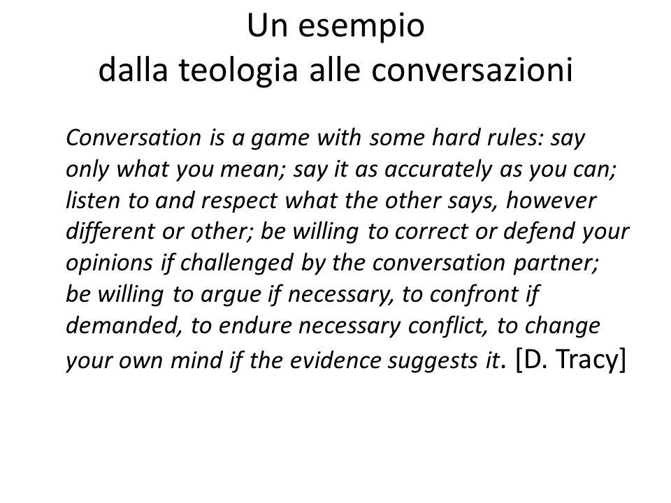 Un esempio dalla teologia alle conversazioni
