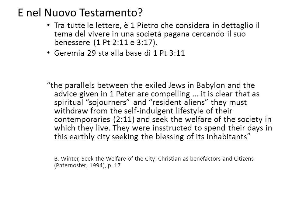 E nel Nuovo Testamento