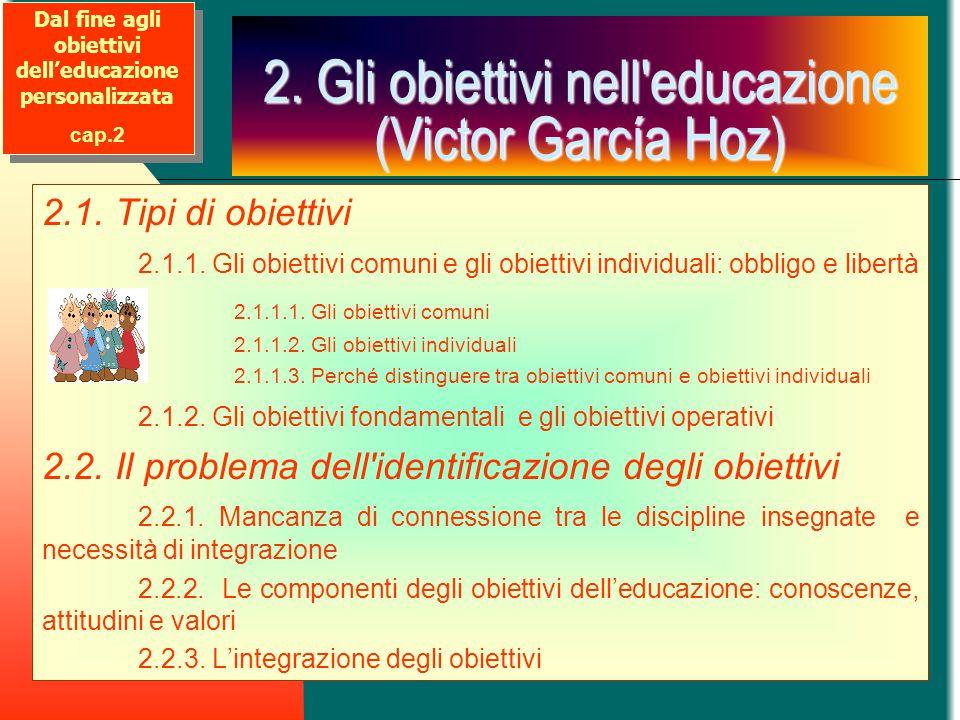 2. Gli obiettivi nell educazione (Victor García Hoz)