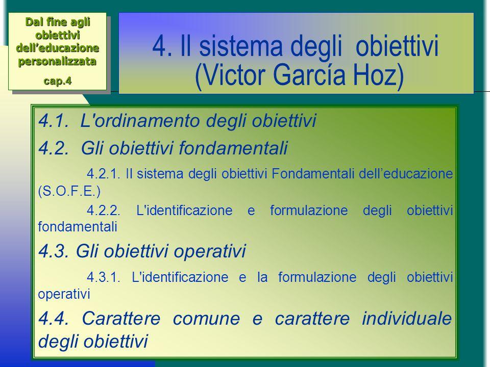 4. Il sistema degli obiettivi (Victor García Hoz)