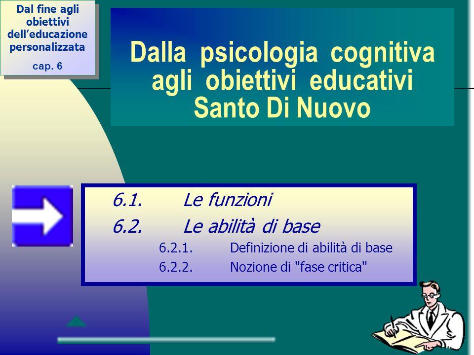 Dalla psicologia cognitiva agli obiettivi educativi Santo Di Nuovo