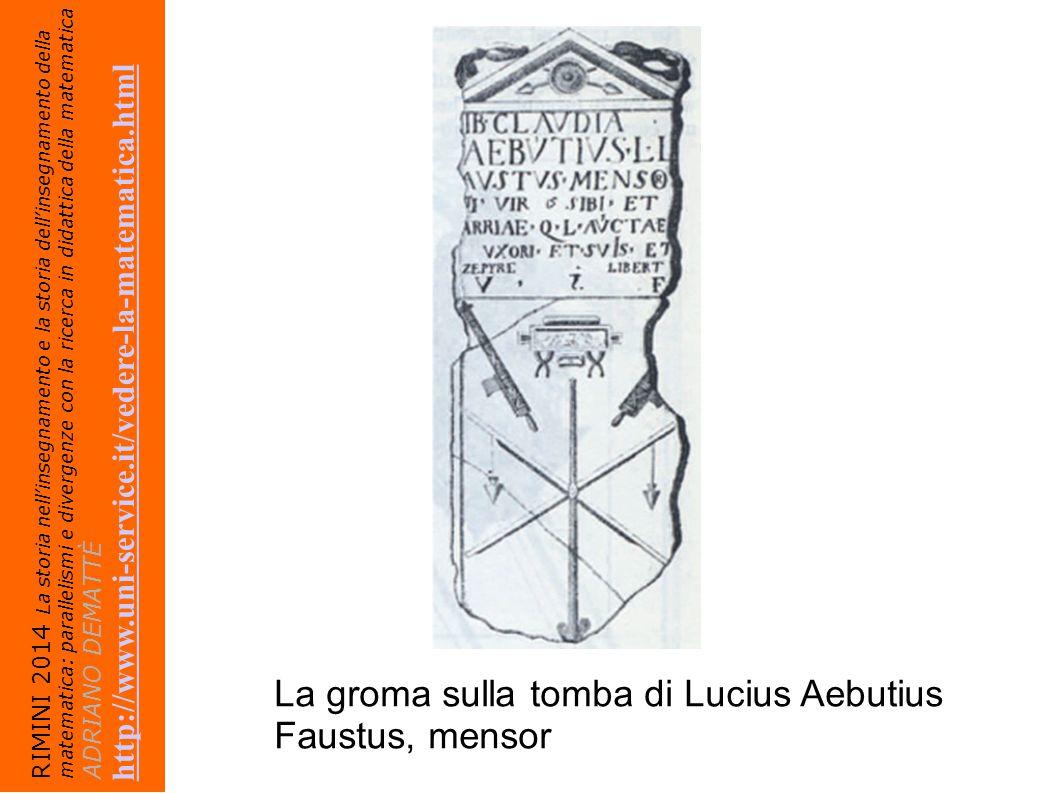 La groma sulla tomba di Lucius Aebutius Faustus, mensor