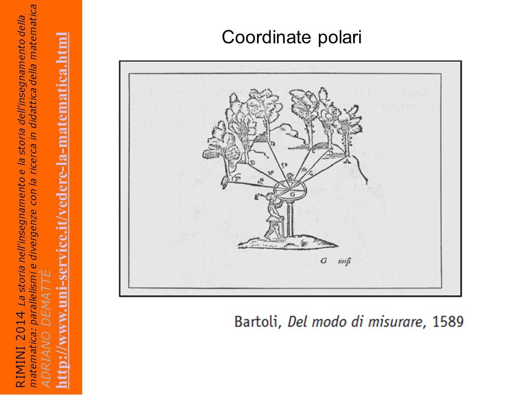 Coordinate polari http://www.uni-service.it/vedere-la-matematica.html