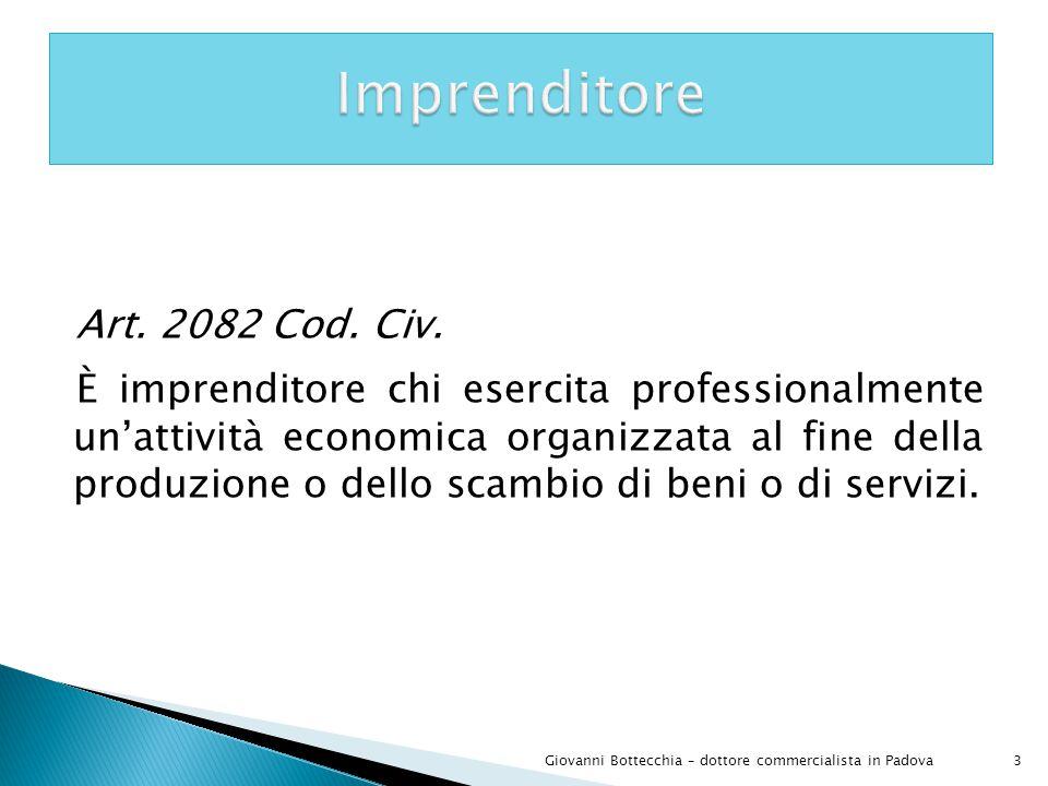 Imprenditore Art. 2082 Cod. Civ.