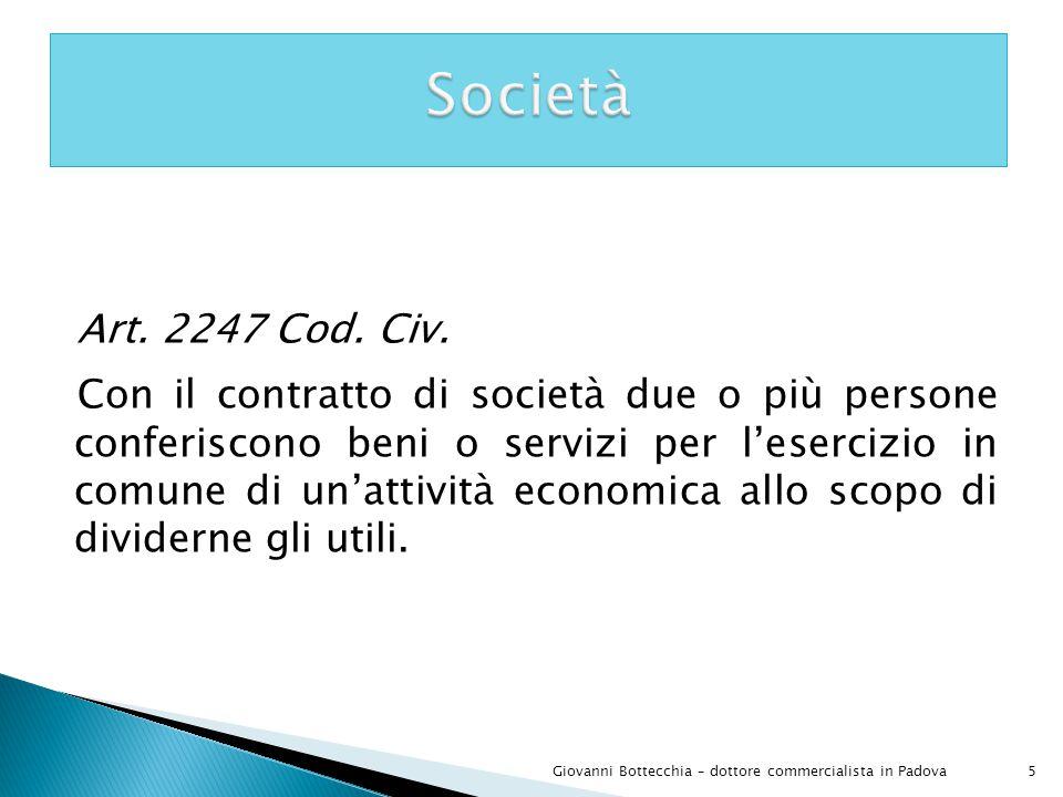 Società Art. 2247 Cod. Civ.