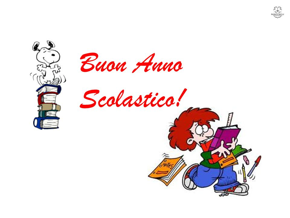 Buon Anno Scolastico!