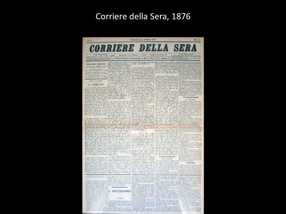 Corriere della Sera, 1876