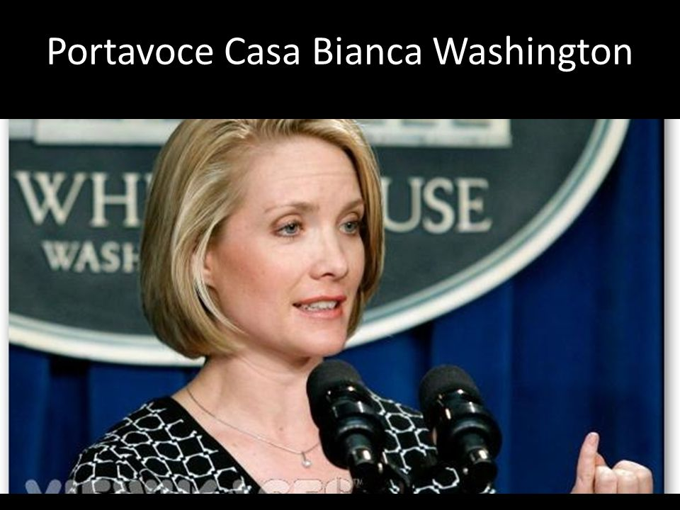 Portavoce Casa Bianca Washington