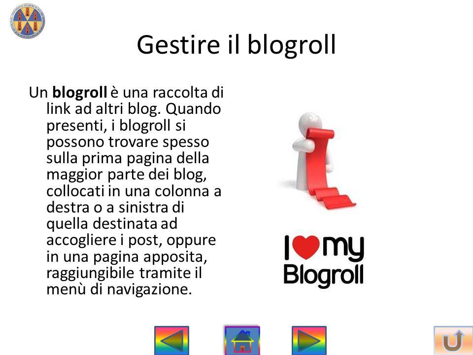 Gestire il blogroll