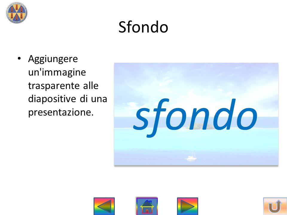 Sfondo Aggiungere un immagine trasparente alle diapositive di una presentazione. sfondo