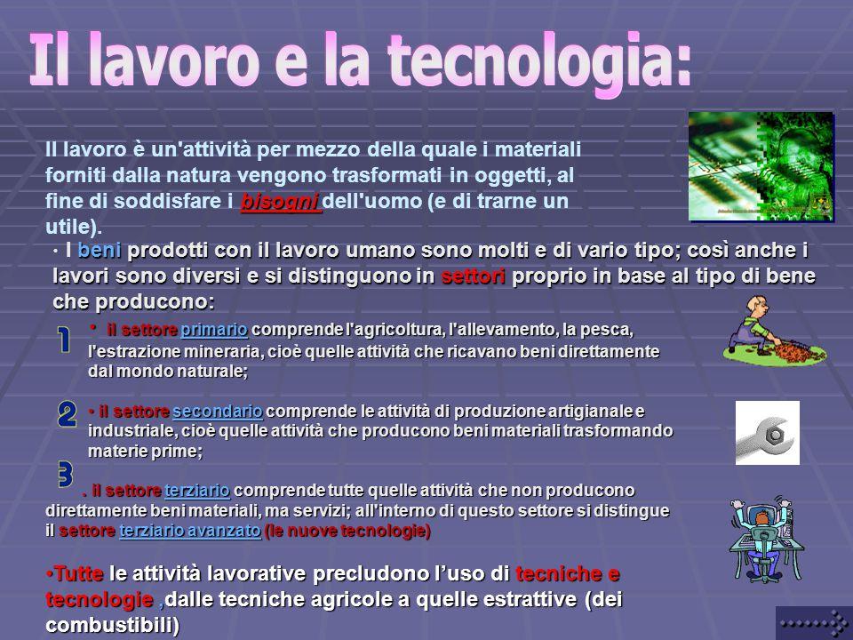 Il lavoro e la tecnologia: