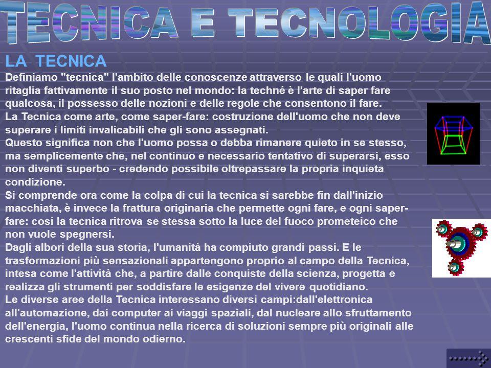 TECNICA E TECNOLOGIA LA TECNICA