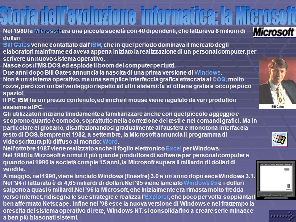 Storia dell evoluzione informatica: la Microsoft
