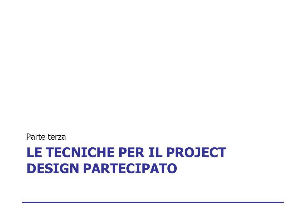 Le tecniche per il project design partecipato