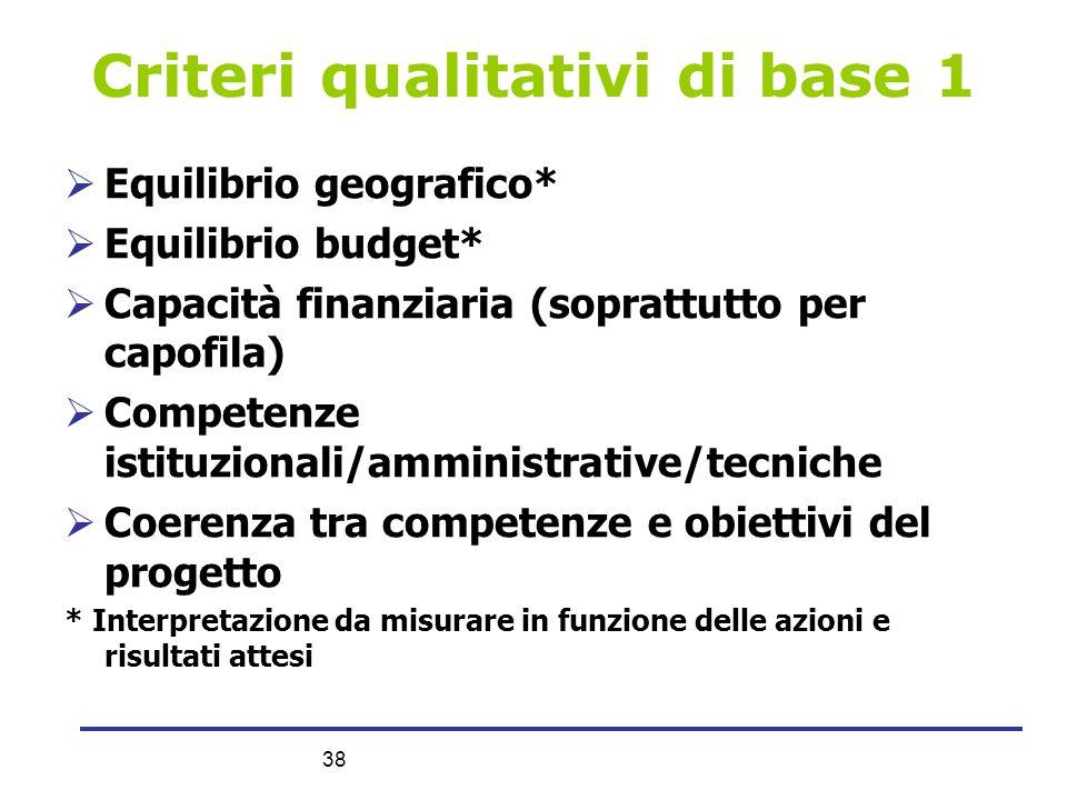 Criteri qualitativi di base 1