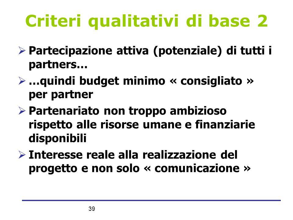 Criteri qualitativi di base 2