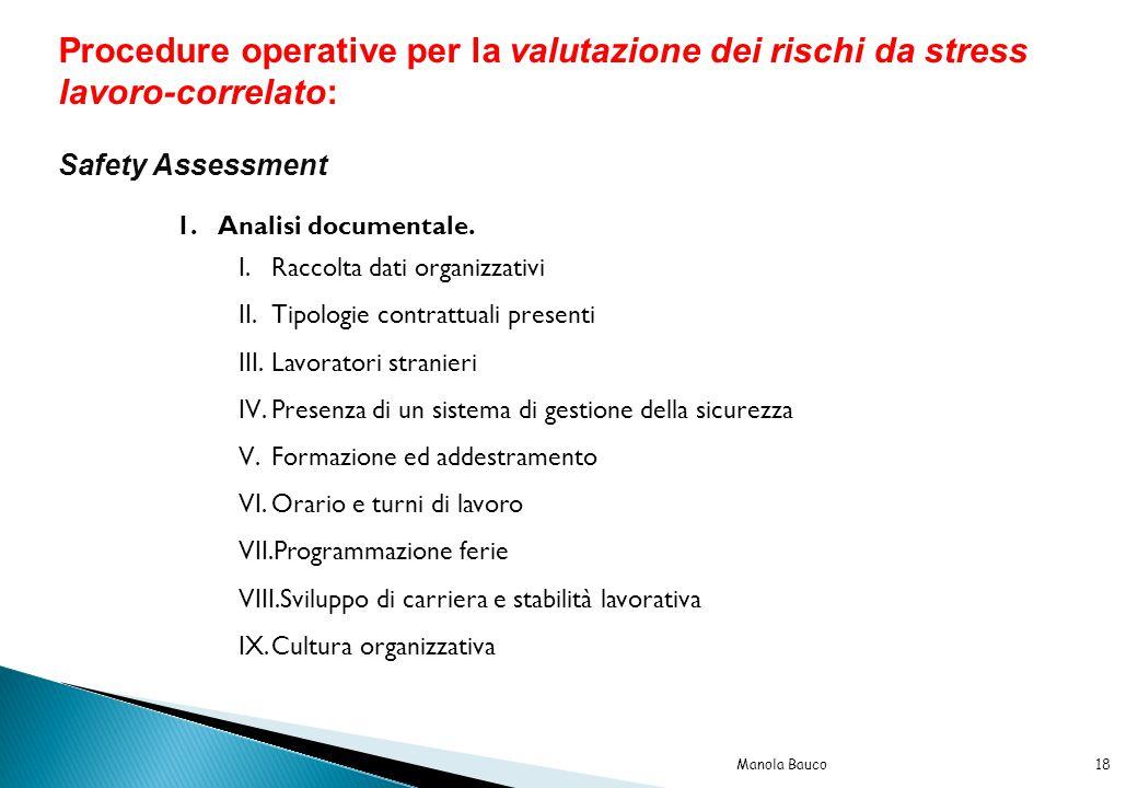 Procedure operative per la valutazione dei rischi da stress lavoro-correlato: