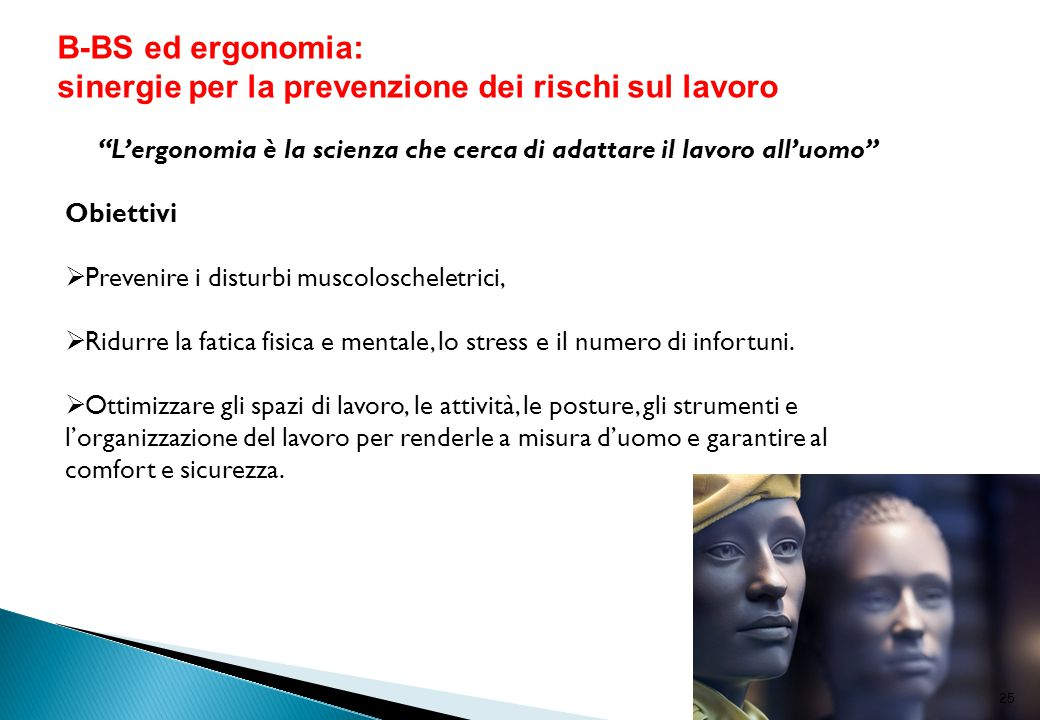 L'ergonomia è la scienza che cerca di adattare il lavoro all'uomo