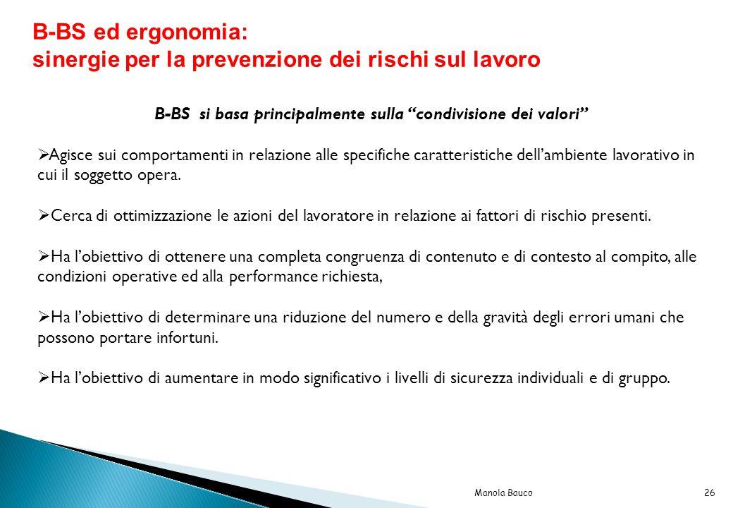 B-BS si basa principalmente sulla condivisione dei valori