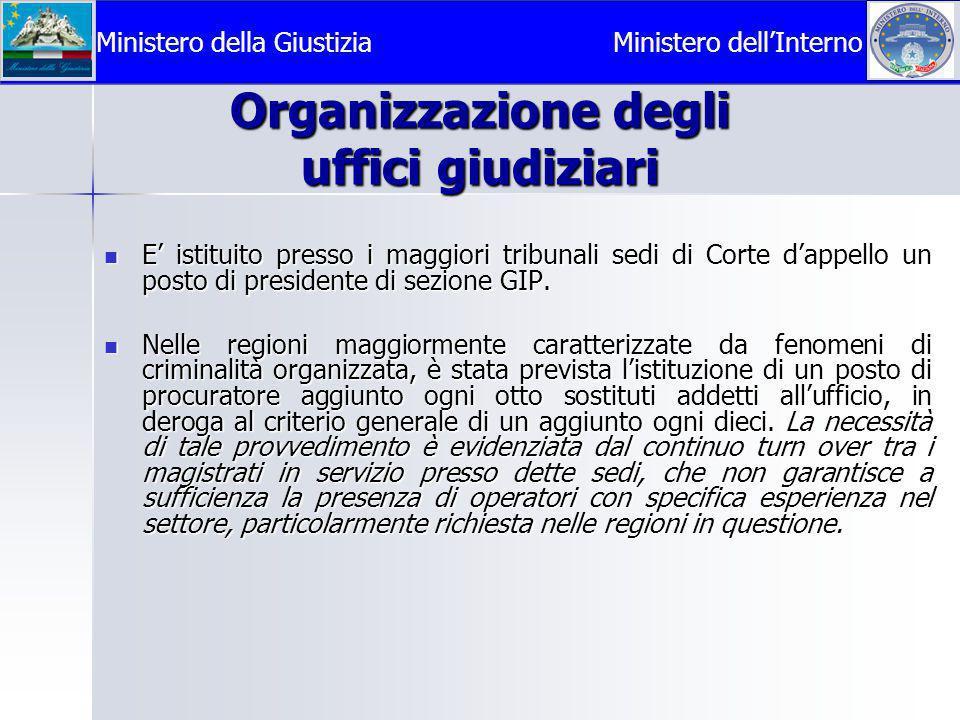 Organizzazione degli uffici giudiziari