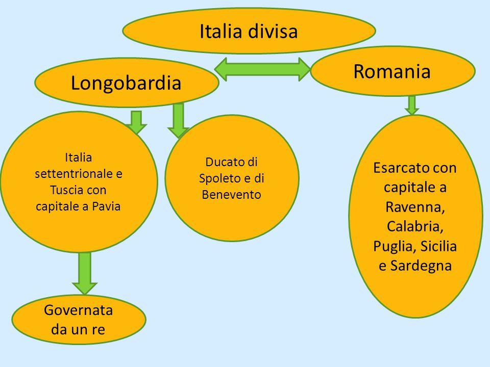 Italia divisa Romania Longobardia
