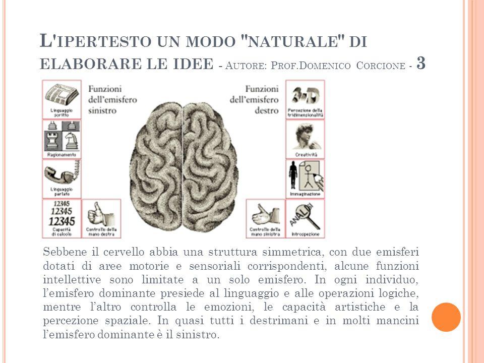 L ipertesto un modo naturale di elaborare le idee - Autore: Prof