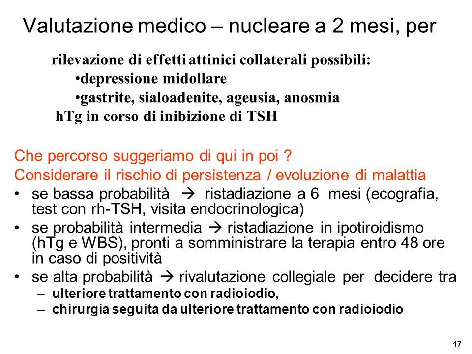 Valutazione medico – nucleare a 2 mesi, per