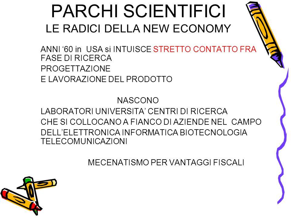 PARCHI SCIENTIFICI LE RADICI DELLA NEW ECONOMY