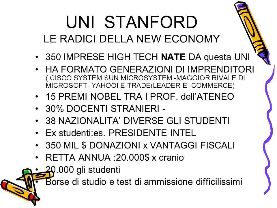 UNI STANFORD LE RADICI DELLA NEW ECONOMY