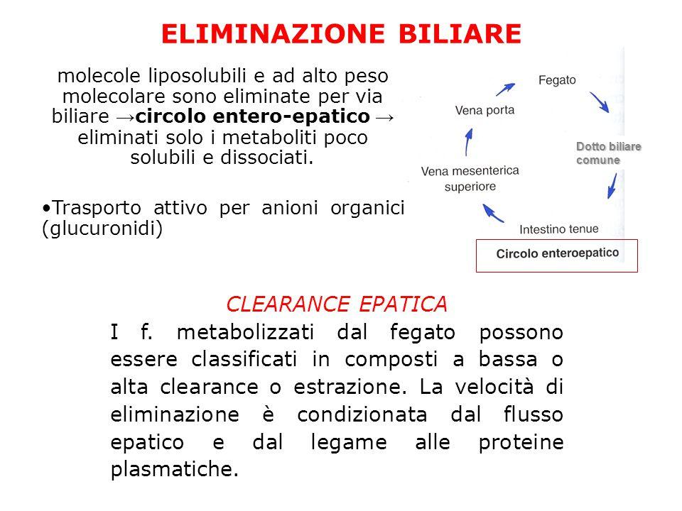 ELIMINAZIONE BILIARE CLEARANCE EPATICA