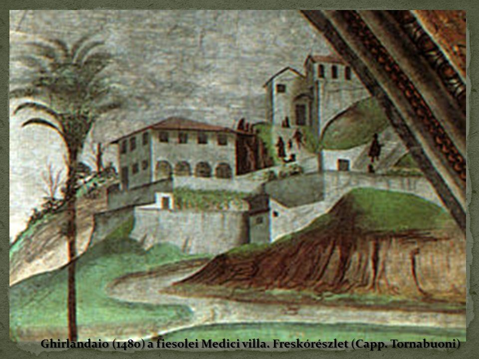 Ghirlandaio (1480) a fiesolei Medici villa. Freskórészlet (Capp