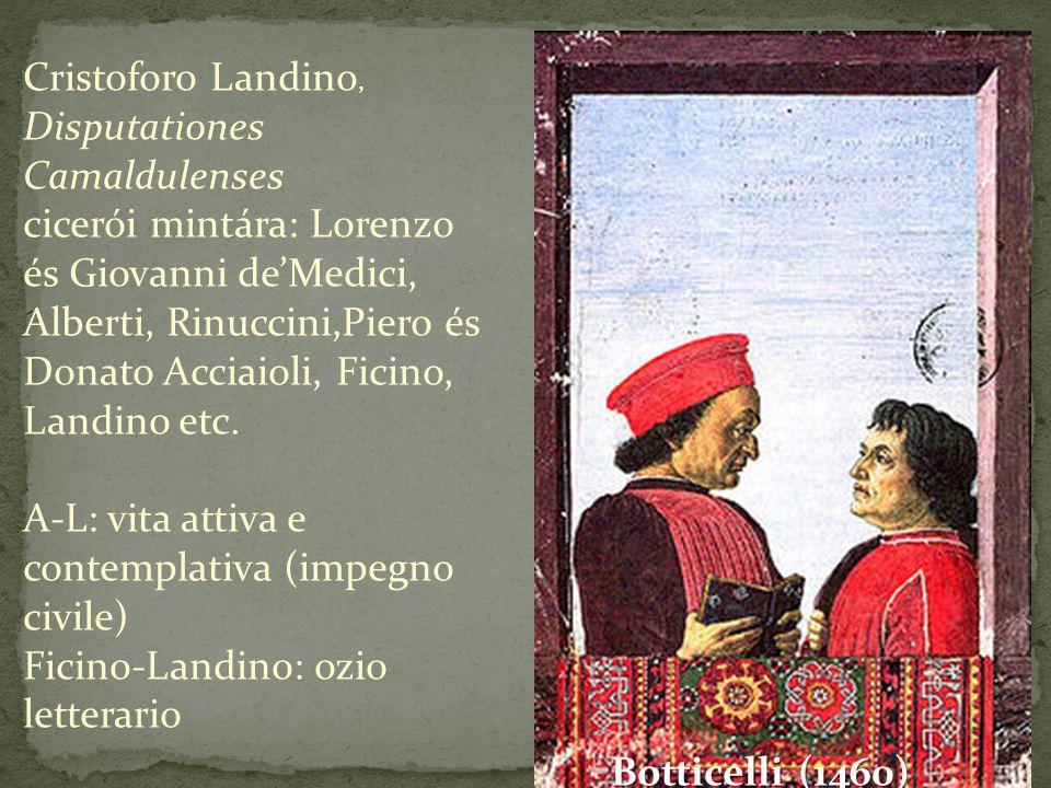 Cristoforo Landino, Disputationes Camaldulenses