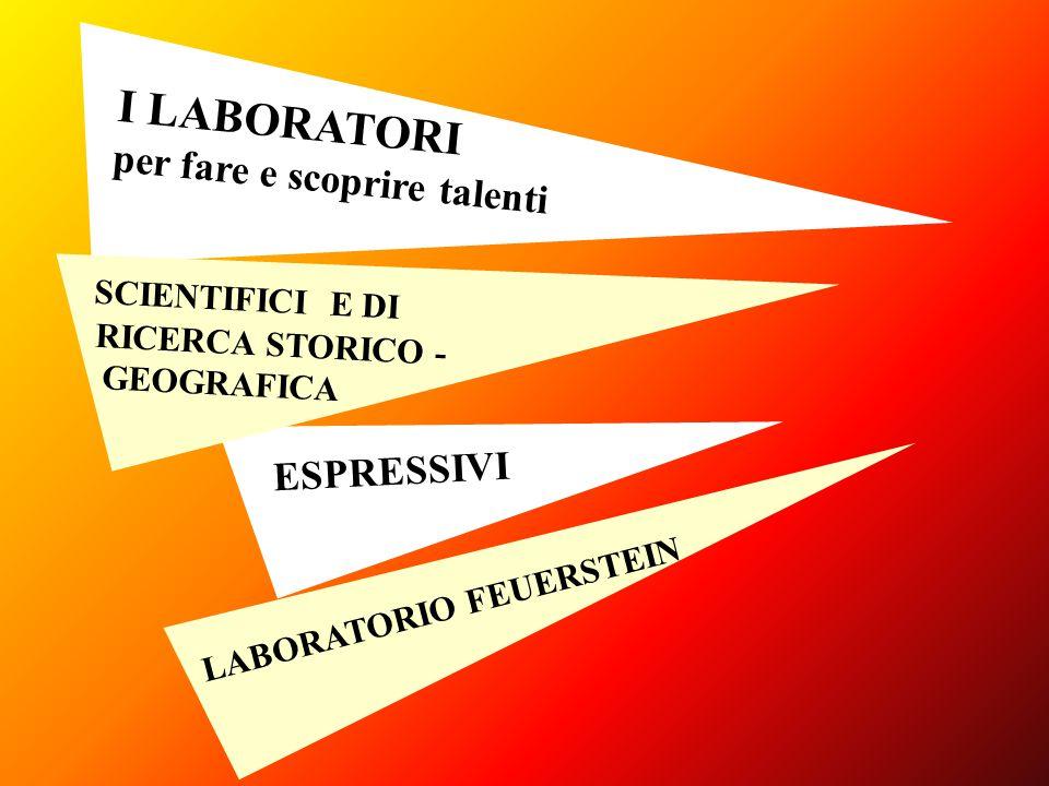 I LABORATORI per fare e scoprire talenti SCIENTIFICI E DI ESPRESSIVI