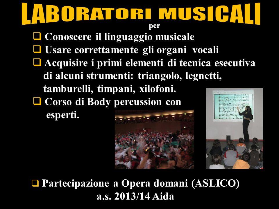 Partecipazione a Opera domani (ASLICO)