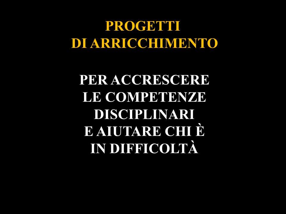 DI ARRICCHIMENTO PER ACCRESCERE LE COMPETENZE DISCIPLINARI