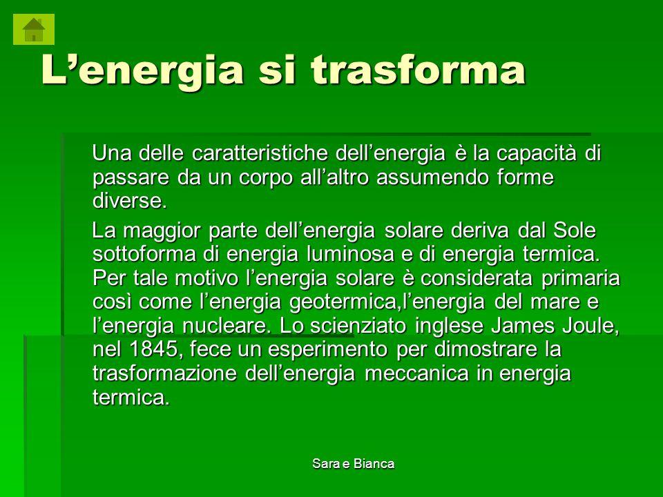 L'energia si trasforma