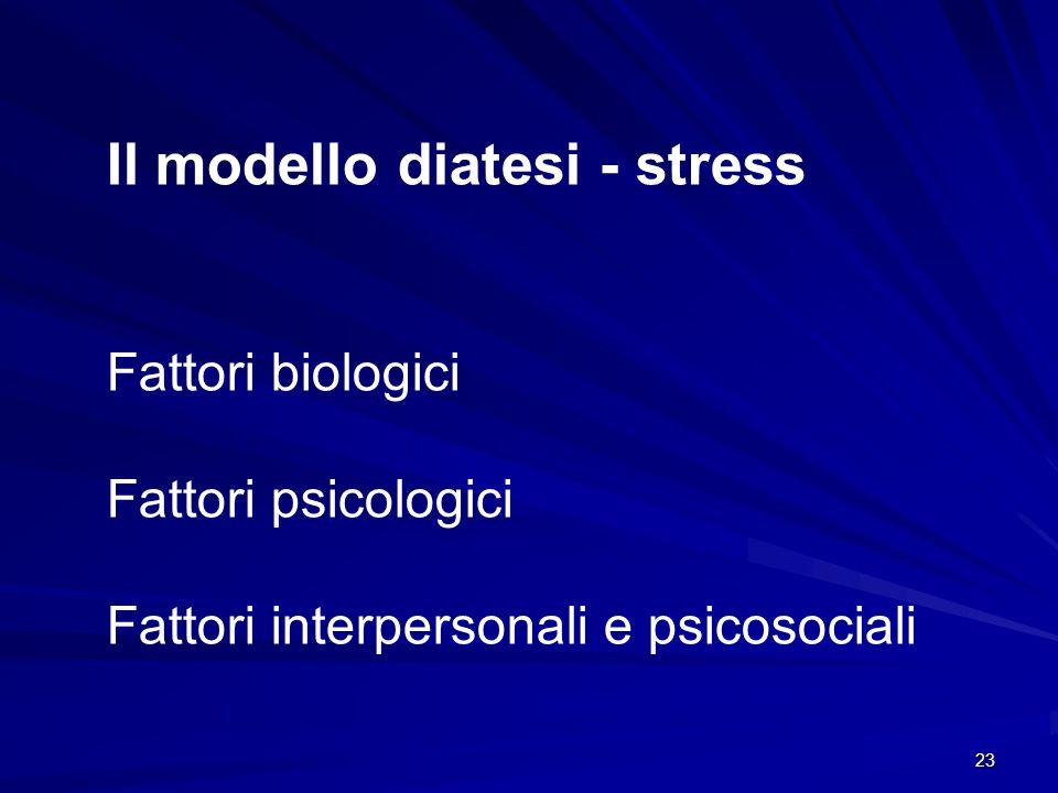 Il modello diatesi - stress
