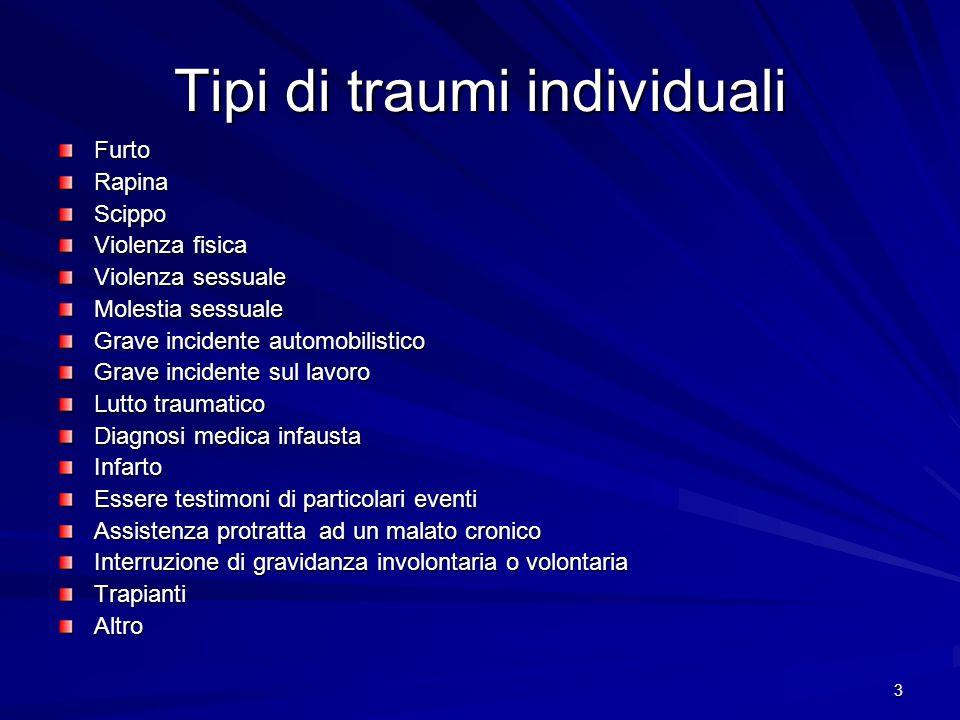 Tipi di traumi individuali